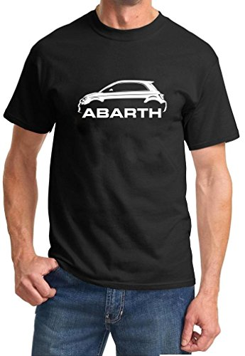 Fiat 500 Abarth Classic Car Outline Design Tshirt