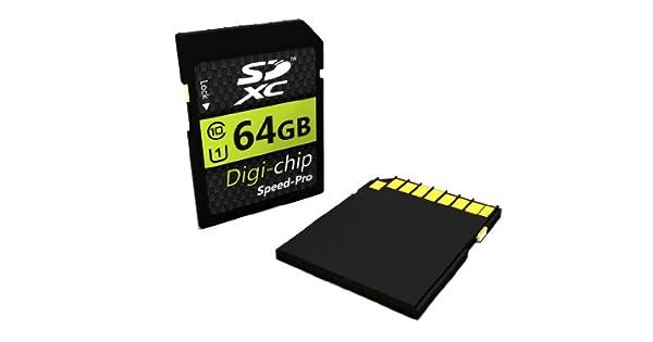 Amazon.com: Digi-Chip 64 GB Class 10 Tarjeta de memoria SDXC ...