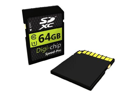 Digi-Chip 64GB CLASS 10 SDXC Speicherkarte für Nikon D800, D800E, D3200, D600, D750, D5200, D7100, D610, D5300, DF, D3300 and D5100 Digitalkamera