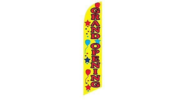 FLAG ONLY Yellow Grand Opening 12ft Feather Banner Swooper Flag