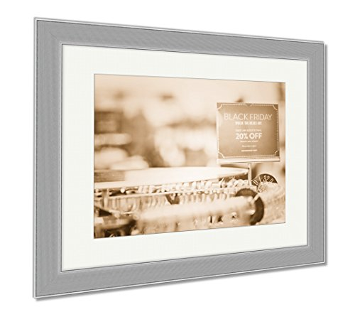 Ashley Framed Prints Shopping On Black Friday, Contemporary Decoration, Sepia, 26x30 (frame size), Silver Frame, - Park Meadows Mall Shopping