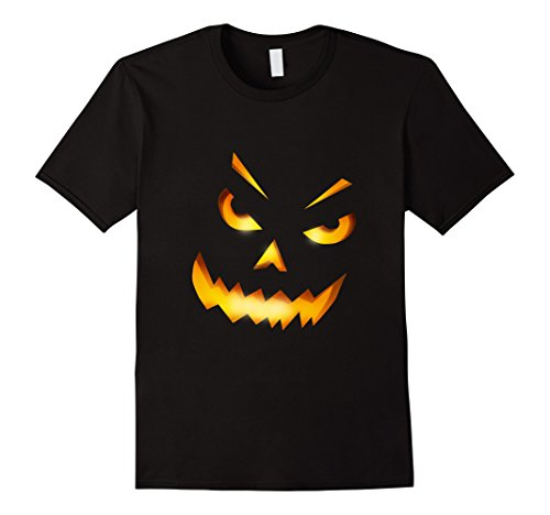 Mens Giant Jack O' Lantern Evil Smiley Pumpkin Halloween T-shirt XL (Smiley Costume Horror)