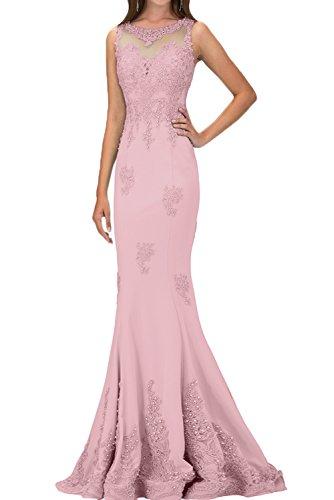 da sera ressing ivyd 1 Perle Lussuoso Damen Rosa abito lungo vestito Pizzo Applicazione feste Tqwvq