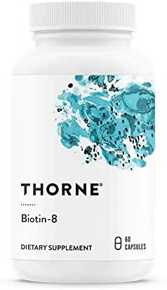 Thorne Research - Biotin 8 - Vitamin B7 (Biotin) for Healthy Hair, Nails, and Skin - 60 Capsules