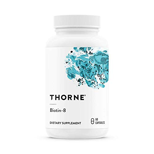 Thorne Research – Biotin 8 – Vitamin B7 (Biotin) for Healthy Hair, Nails, and Skin – 60 Capsules