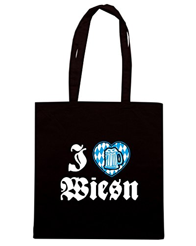 T-Shirtshock - Bolsa para la compra WC0411 I love Wiesn Negro