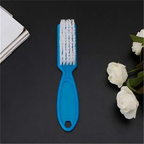 LZIYAN Long Handle Nail Scrub Brushes Nail Cleaning Brush For Manicure Multipurpose Tool For Cleaning Clothes Shoes,Blue by LZIYAN (Image #6)
