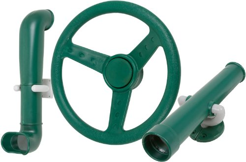 Swing Set Stuff Periscope Telescope Steering Wheel (Green) with SSS Logo Sticker (Steering Swing Wheel Set)