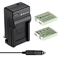 Powerextra Upgraded 2 Pack Replacement Canon NB-6LH Battery as NB-6L Battery and Charger Kit for Canon Powershot S120, SX510 HS
