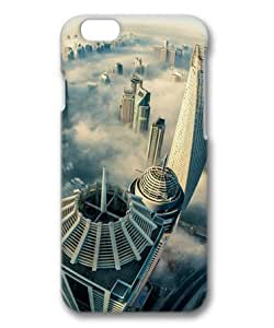 Cityscapes Foggy Dubai Aerial View Sakuraelieechyan Hard Protective 3D Cover Case for Iphone4s