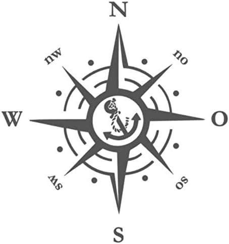 Generisch Kompass Anker Aufkleber Windrose Aufkleber 30x30cm 40x40cm 50x50cm Und 60x60cm Für Caravan Wohnmobil Wohnwagen Auto Oder Als Wand Tattoo 229 Weiß Glanz 50 X 50 Cm Auto