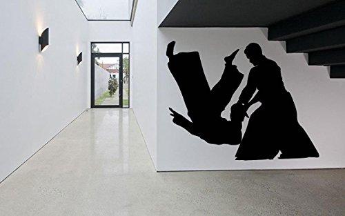 Wall Room Decor Art Vinyl Sticker Mural Decal Aikido Mixed Martial Arts Karate Sport Poster Boy Bedroom Nursery AS2640