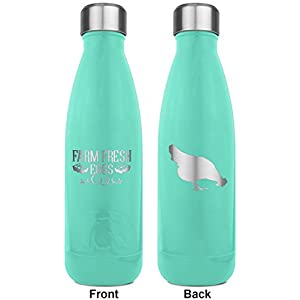 Farm Quotes RTIC Bottle - Teal - Engraved Front & Back (Personalized)