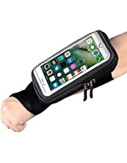 Forearm Band Wristband Thumb Wrist Belt Sport Running Armband,YILUYIQI Riding Wristband Pouch Bag with Key ID Cash Holder for Cycling, Jogging, Exercise for Smartphone Up to 6.5 Inchs