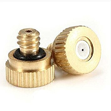 TOOGOO(R) 5x Brass Misting Nozzles with Stainless Steel Orifice 0.5mm