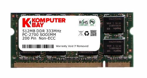 (Komputerbay 512MB DDR SODIMM (200 pin) 333Mhz DDR333 PC2700 CL 2.5 512 MB)