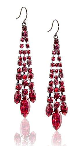 Zoe Ella Rhinestone Chandelier Earrings product image