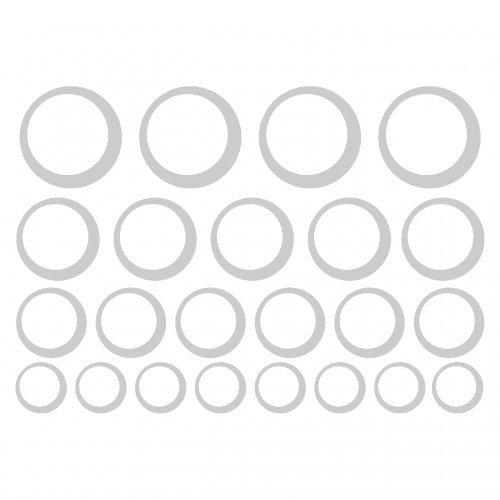plot4u Luftblasen Aufkleber Creativ-Set in 5 Größen und 25 Farben ...