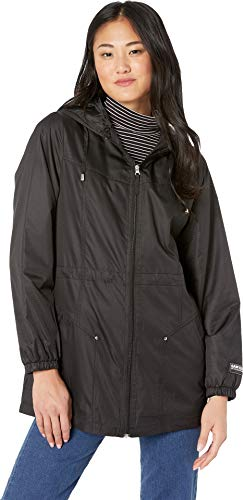 (Sam Edelman Women's Ripstop Hooded Anorak Black Large)