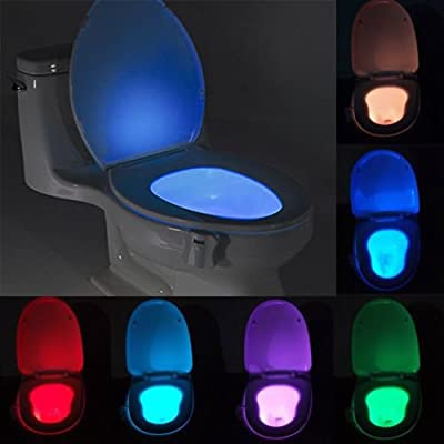 LED Toilet Bathroom Night Light Human Motion Activated Seat Sensor Lamp 8 Colors ;TM79F-32M UGBA28883: Home & Kitchen