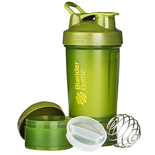 BlenderBottle ProStak System with 22-Ounce Bottle and Twist n' Lock Storage, Moss Green by Blender Bottle