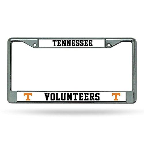Ncaa Chrome Frame - OKSLO NCAA Tennessee Volunteers Chrome Plate Frame, Orange Lettering