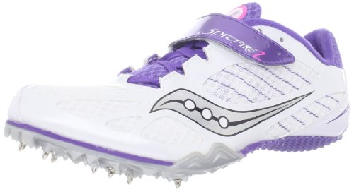 Track Running Spike (Saucony Women's Spitfire 2 Track Shoe,White/Purple,7.5 M US)