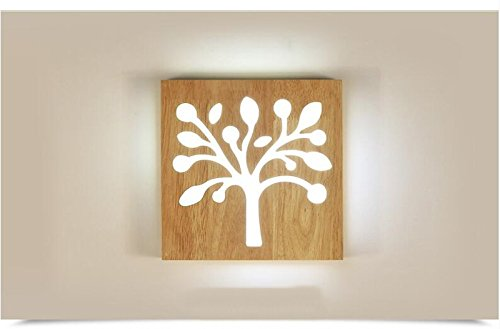 Yaojiaju Modern Wall Lamp, Trees Wood Indoor Lighting Fixture The Coffee Bar Restaurant Shop LED Light For Wall Decoration (Color : 3 position, Size : 110V)