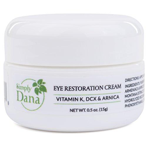 Simply Dana Eye Restoration Cream - Vitamin K, DCX & Arnica - Remove Dark Circles 0.5 oz (15g) by Simply Dana