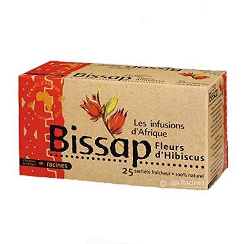 [ INFUSION 100% BISSAP ] Set de 2 cajas de infusion con Bissap | Flores de hibisco o Karkade | 100% natural | 2 x 25 sobres de 1 6g