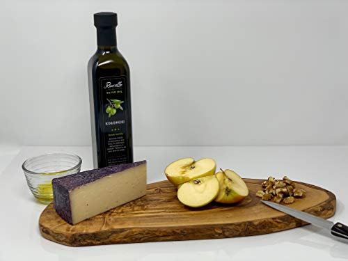 Arte Legno Spello Rustic Hand Made Olive Wood Cutting Board | Small, Medium and Large Cutting Boards Available | Hand Crafted in Italy (small 11-12'' x 5'' x 0.6'') by Arte Legno Spello (Image #5)