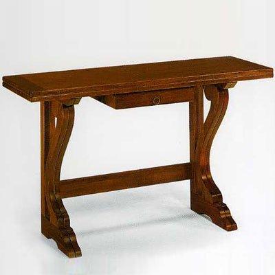 Tavolo Consolle Antico.Antiche Riproduzioni Tavolo Consolle Noce Cm 160x40 A Libro