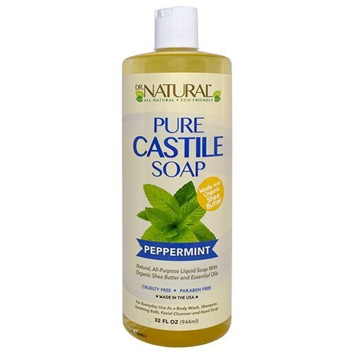 (Dr. Natural Pure-castile Liquid Soap, Peppermint, 32 Ounce)
