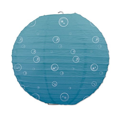 Beistle-54061-Under-the-Sea-Paper-Lanterns-3-Pack-95-Light-BlueWhite