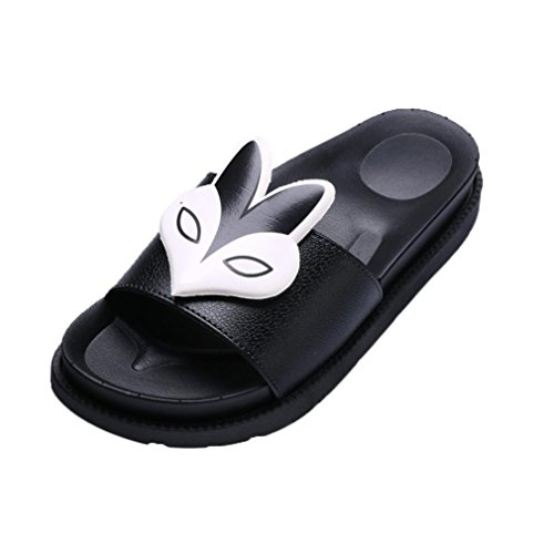Transer Ladies Sexy Flat Heels Sandals- Women Flat Sandals Comfortable Slides Slippers Shoes Casual Black