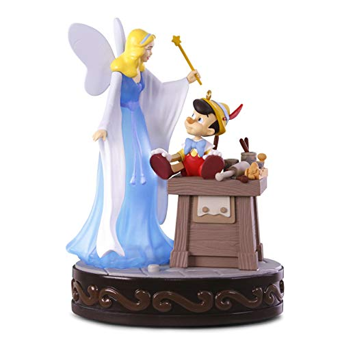 (Hallmark Keepsake Christmas Ornament 2018 Year Dated, Disney Pinocchio A Real Boy With Light and Sound)