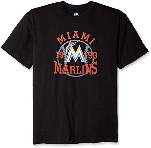 MLB Miami Marlins Men's Team Graphic Short Sleeved Graphic T-Shirt, 3X, Black – DiZiSports Store