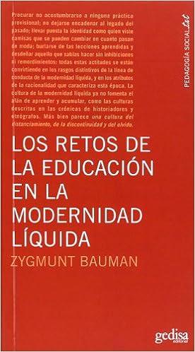 Los Retos De La Educación En La Modernidad Líquida por Zygmunt Bauman epub