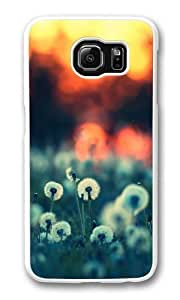 Dandelions at Sunset Custom Samsung Galaxy S6/Samsung S6 Case Cover Polycarbonate White