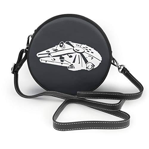 LF Millennium Falcon Women Crossbody Bags, Leather Zipper Shoulder Bag Round Cell Phone - Handbag Millennium Leather