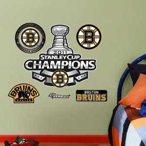 Fathead NHL Boston Bruins 2011 Stanley Cup Champions Logo Wall Decal