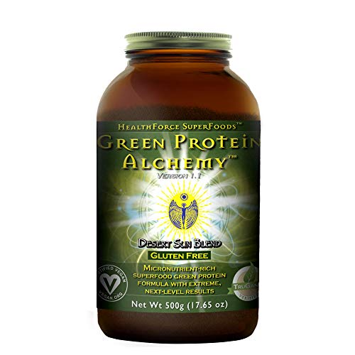 HealthForce SuperFoods Green Protein Alchemy Desert Sun Blend - 500 Grams - All Natural Plant Based Protein Powder, Made from Whole Foods - Vegan, Organic, Gluten Free - 20 Servings