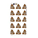 Emoji Iphone 6 Case DistinctInk Case for iPhone 6 / 6S (NOT Plus) - Custom Ultra Slim Thin Hard White Plastic Cover - Poop Emoji Pattern