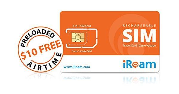 Amazon.com: PREPAID Travel tarjeta SIM – Funciona en 70 + ...
