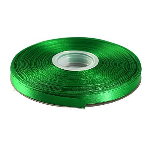 """ITIsparkle 3/8"""" Inch Double Faced Satin Ribbon 50 Yards-Roll Set for Gift Wrapping Scrap Books Party Favor Hair Braids Baby Shower Decoration Floral Arrangement Craft Supplies, Emerald Ribbon"""