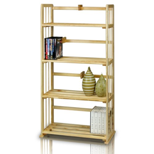 Furinno FNCL-33002 Pine Solid Wood 4-Tier ()