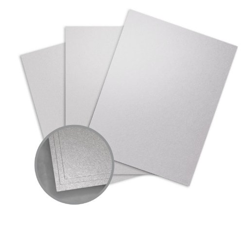 ASPIRE Petallics Silver Ore Card Stock - 8 1/2 x 11 in 98 lb Cover Metallic C/2S 200 per Package (Cover Paper 98lb)