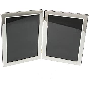 silver plated luxury hinged double 8 x 10 picture frame by haysom interiors - Double 8x10 Frame