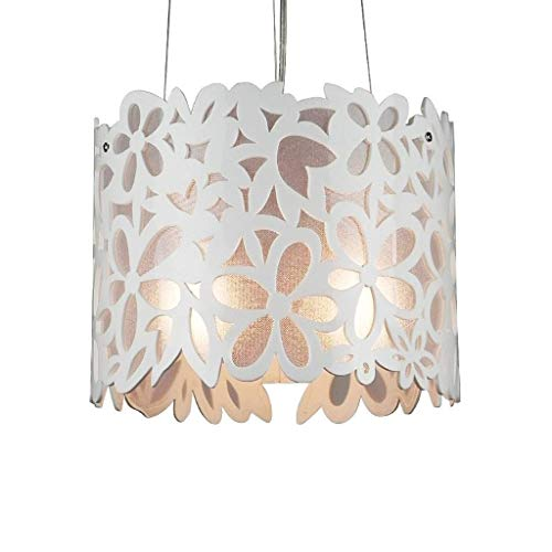XAJGW Modern Openwork Flowers Acrylic Chandelier Round Chandelier for Bedroom, Dining Room, Living Room, Tea House, Cafe and Other Leisure Places