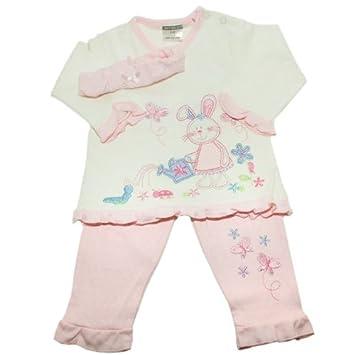 Amazon Com Baby Girl Embroidered Bunny Design T Shirt Pink